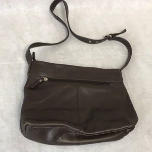 Stone mountain brown leather purse